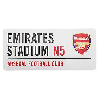 Arsenal FC oficial Emirates Stadium fútbol Metal Club calle muestra