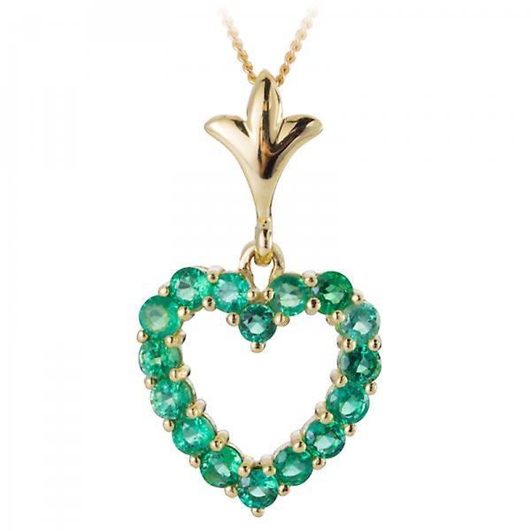 Shipton and Co Ladies Shipton And Co 9ct Yellow Gold And Emerald Pendant Including A 16 9ct Chain PYG058EM