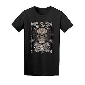 Live frimodig 1978 Skull grafisk Tee menn-bilde av Shutterstock