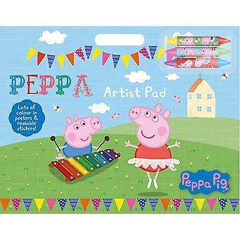 Peppa Pig Artist Pad With Stickers & Crayons