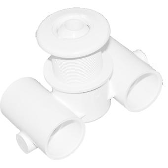"Balboa HydroAir 10-5300WHT 1.5x1.5"" Long Ext Fitting Thread - White"