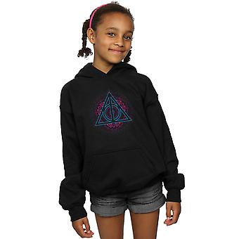 Harry Potter Girls Neon Deathly Hallows Hoodie