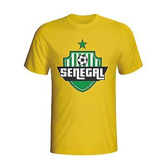 Senegal krajiny logo T-shirt (žltá)-deti