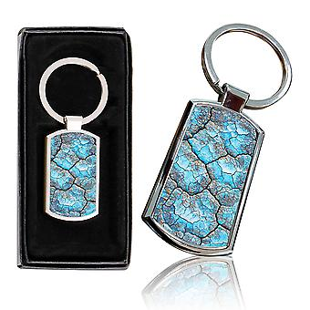 i-Tronixs - Premium Marble Design Chrome Metal Keyring with Free Gift Box (3-Pack) - 0005