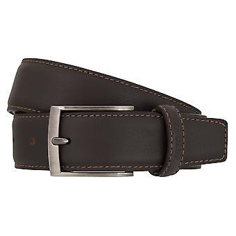 OTTO KERN belts men's belts leather belt dark brown 7005