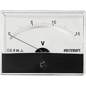 Analogue rack-mount meter VOLTCRAFT AM-86X65/15V/DC