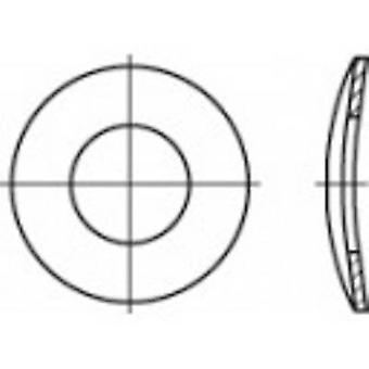 TOOLCRAFT 105927 split lås skiver indvendig diameter: 8,4 mm DIN 137 fjederstål Zink belagt 100 pc (s)