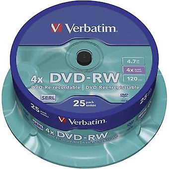Ordrett 43639 tom DVD-RW 4,7 GB 25 PC (er) spindel overskrivbar