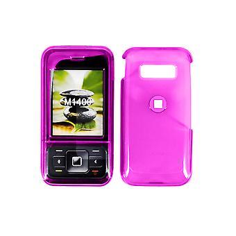 5 Pack -METRO PCS M1400 Snap-On Case. Translucent Dark Pink. M1400COVDKPKMET