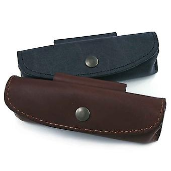 Leather holder for knife ''Le Provençal - Color - Black Direct from France