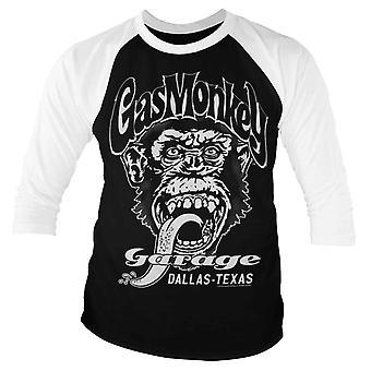 Gas Monkey Garage T Shirt Dallas Texas Official Mens Black Baseball 3/4 Sleeve