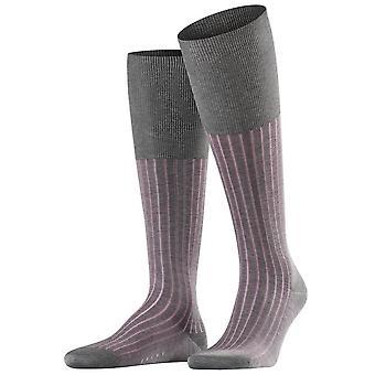 Falke Shadow sokken knie hoge - grijs/Rose Pink