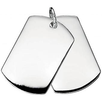 Beginnings Double Dog Tag Pendant - Silver