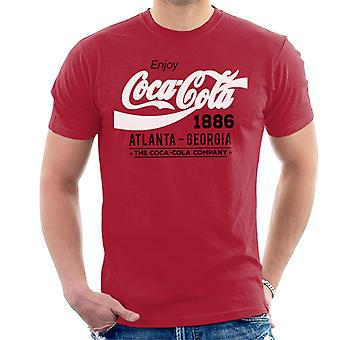 Coca Cola zwart-wit klassieke Logo mannen T-Shirt
