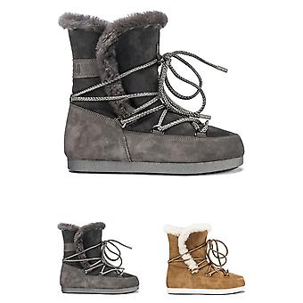 Womens Tecnica Moon Boot Far Side High Shearling Winter Faux Fur Boots
