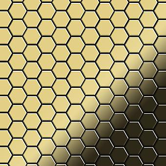 Kovová mozaika mosazná slitina med-BM