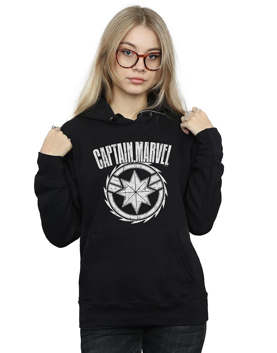 Marvel Women's Captain Marvel Blade Emblem Hoodie