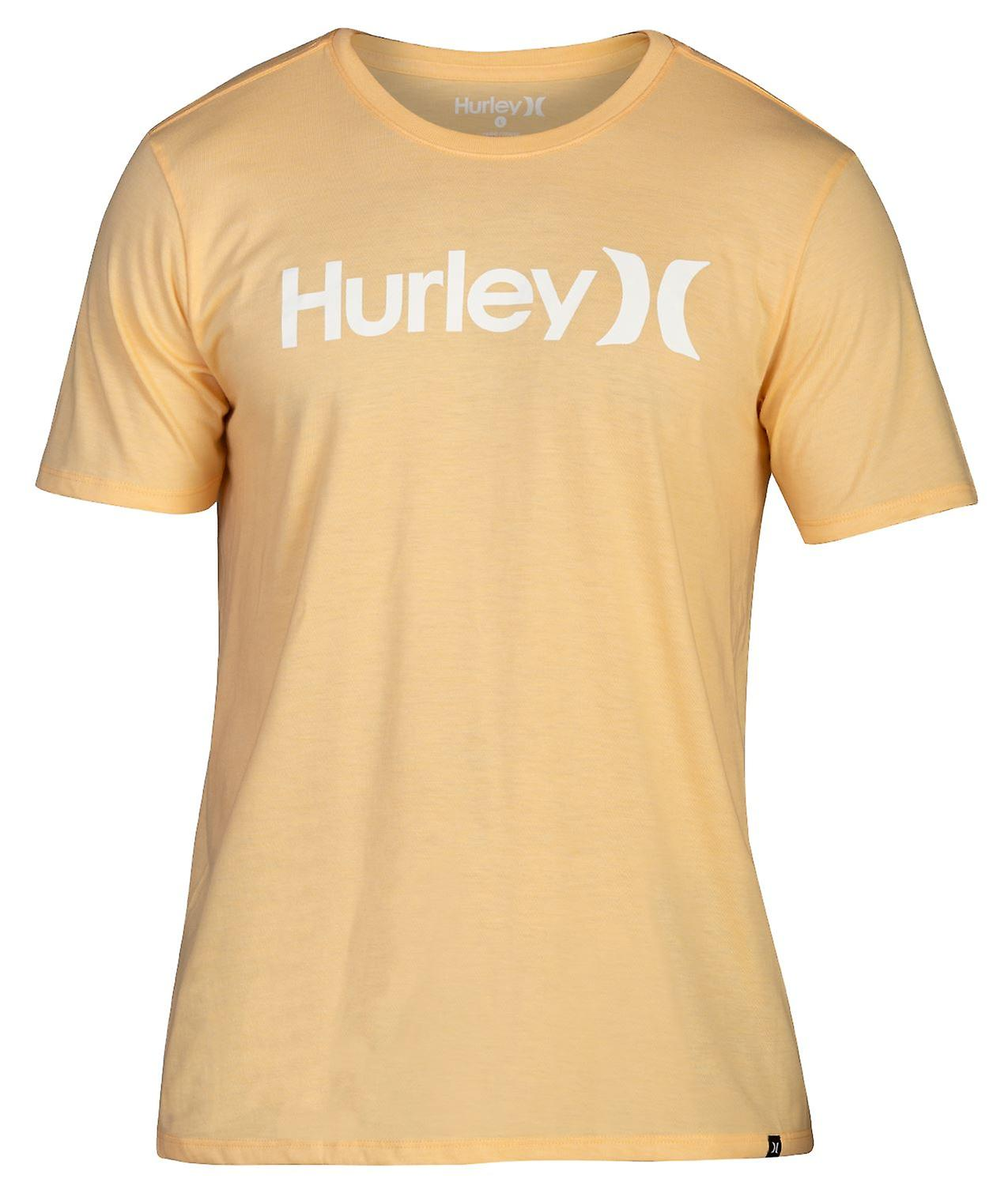 Hurley Men's T-Shirt ~ One & Only Solid orange