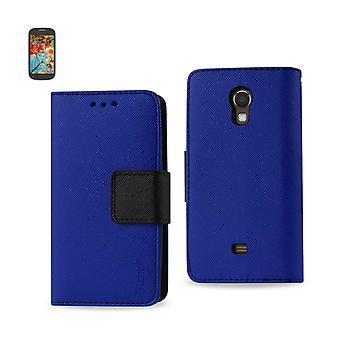Reiko - 3-in-1 Wallet Case for Samsung Galaxy Light T399 - Navy
