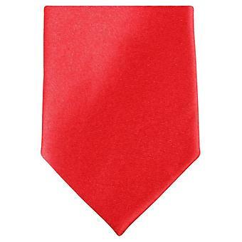 Knightsbridge Neckwear mince cravate Polyester - rouge vif