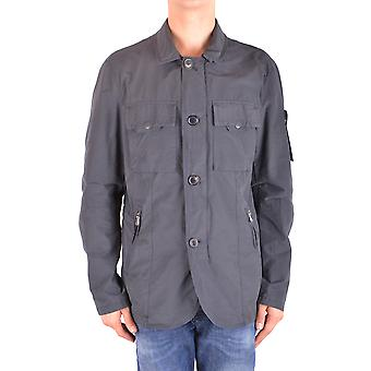 Peuterey Ezbc017088 Men's Grey Polyester Outerwear Jacket