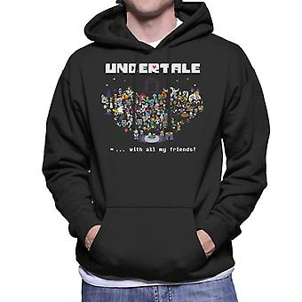 Undertale With All My Friends Men's Hooded Sweatshirt