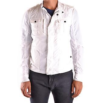 Costume National Ezbc066050 Men's White Nylon Outerwear Jacket