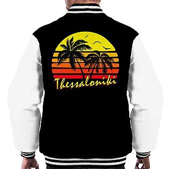 Thessaloniki Vintage Sun mäns Varsity jacka