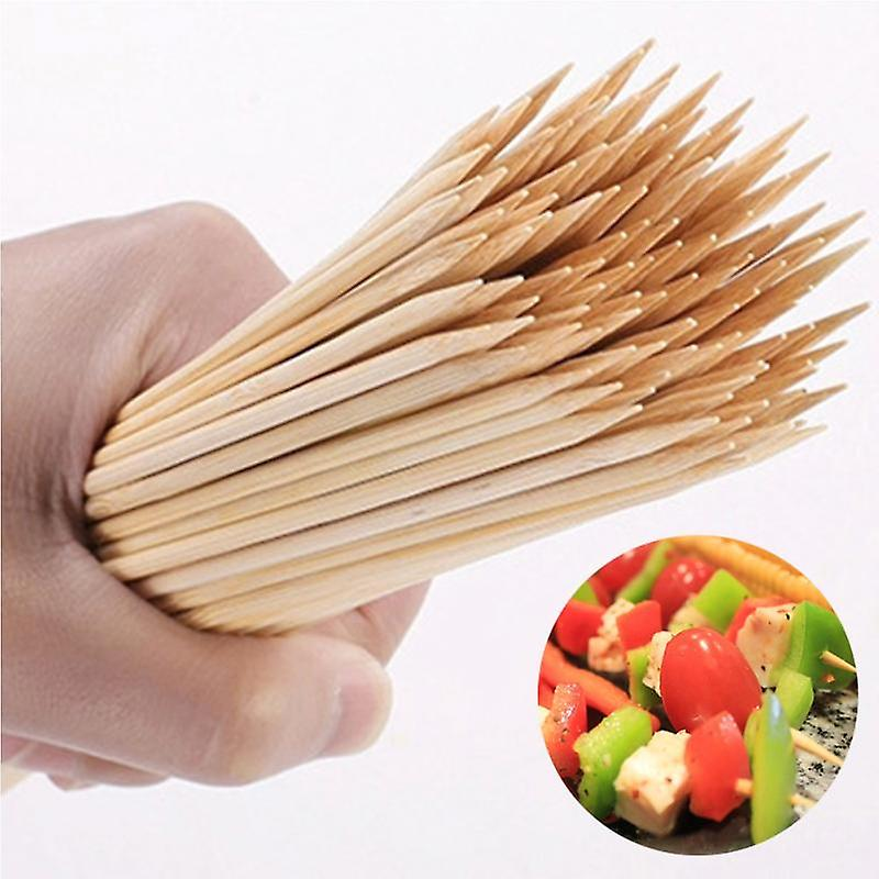 200 Skewers Made Of Birch Wood - Diameter 5mm Length 40 Cm - For BBQ for Delicious Meatballs Vegetables Fruits !