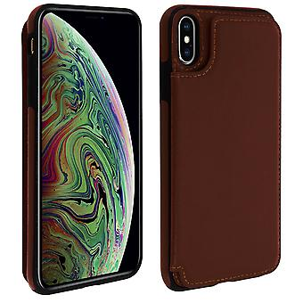Apple iPhone XS Max Shockproof Case, Card Holder Wallet, Forcell, Brown