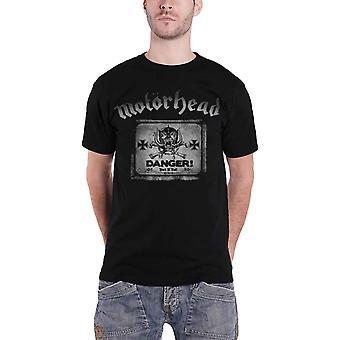 Motorhead T Shirt Danger War Pig band logo new mens Official Black