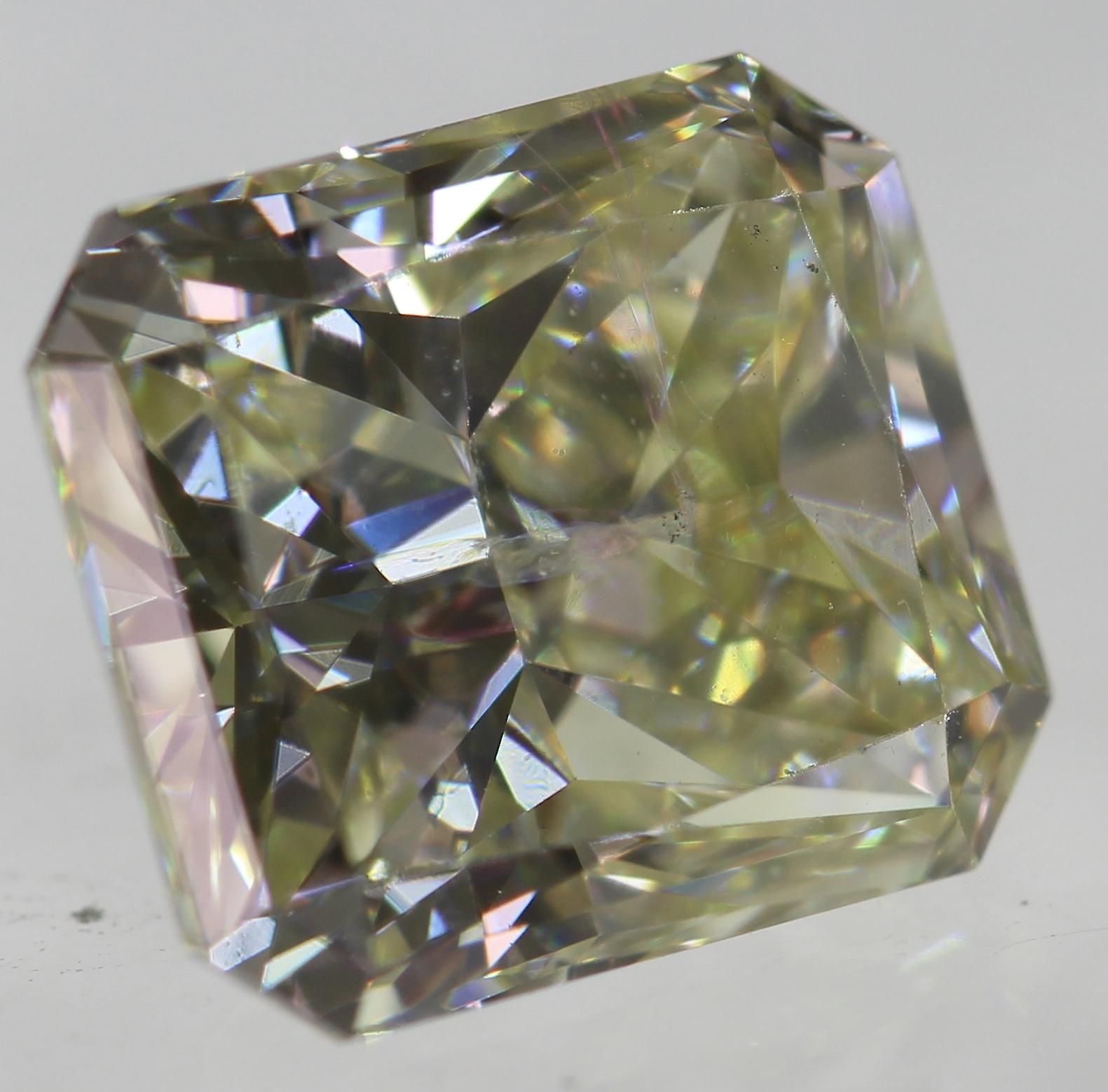 Certified 1.26 Carat J VVS2 Radiant Enhanced Natural Loose Diamond 6.46X5.69mm