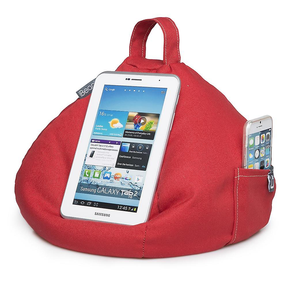 IPad, tablet & ereader bean bag stand-by ibeani - rood