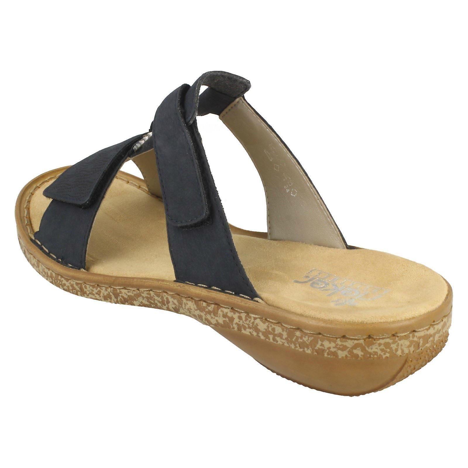 Ladies Rieker Adjustable Mule Sandals 62885
