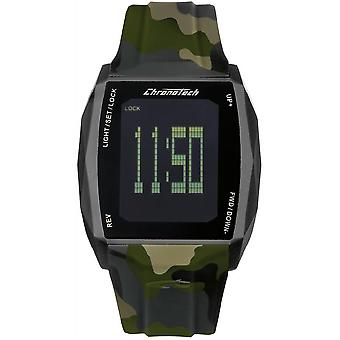 Chronotech Chronotouch Quartz Digital Men's Watch with RW0022 Rubber Bracelet