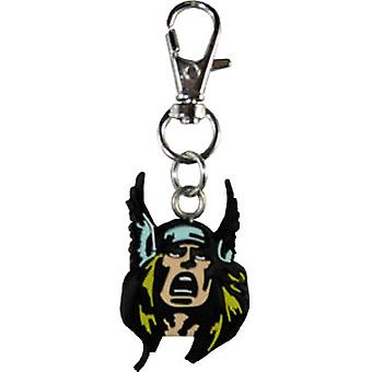 Key Chain Zipper Pull - Marvel - Thor Head New Toys zpl-mvl-0009