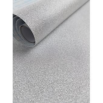 Silver Sparkle Glitter Fablon Crafts Self Adhesive Film 1.5 m X 45 cm Vinyl