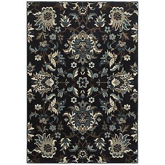Linden 7811b navy/ blue indoor area rug rectangle 5'3