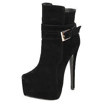 Koi Footwear High Heel Stiletto Platform Ankle Boots Faux Suede