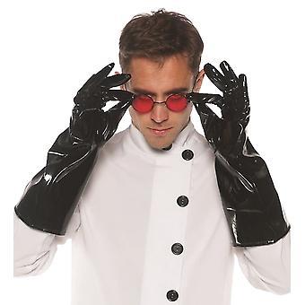 Vinyl handschoenen zwart