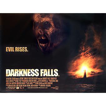 Pimeyden putoaa (kaksipuolinen) alkuperäinen elokuva juliste