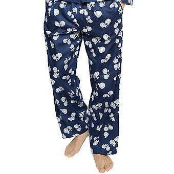 Cyberjammies 6419 mannen ' s Harper blauw mix fiets print katoenen pyjama broek