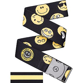 Arcade Rambler Webbing Belt in Black/Smiley