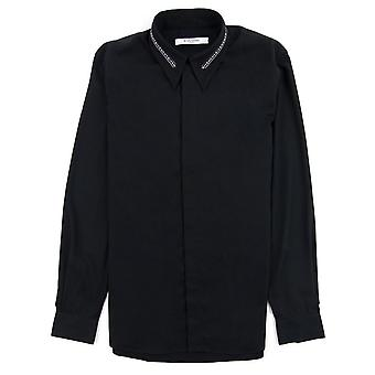 Givenchy Camicia In Cotton Twill Con Collar Espreziosing Nero