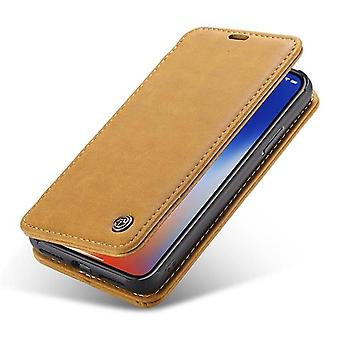 Case For Iphone X Folio Brown Clair