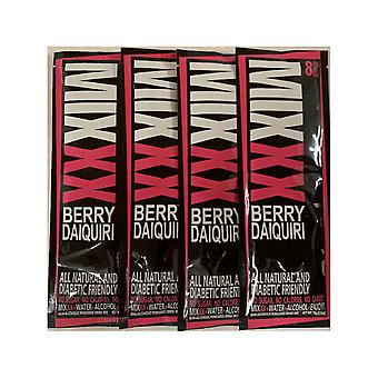 Mixxx Zero Calorie All Natural Strawberry Daiquiri - Powder Cocktail Mixers, 4-Pack of 8 Servings ea