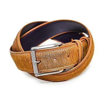 Elliot Rhodes Leather Pony Hair Belt