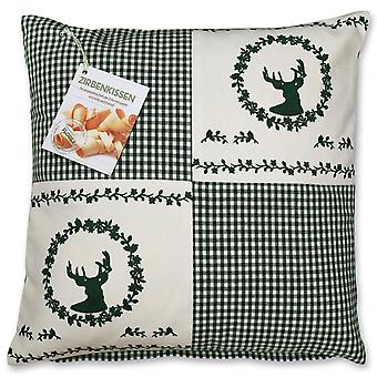 Florex pine cushion country house style with heart motif red/green filled with pine shavings 40x40 cm
