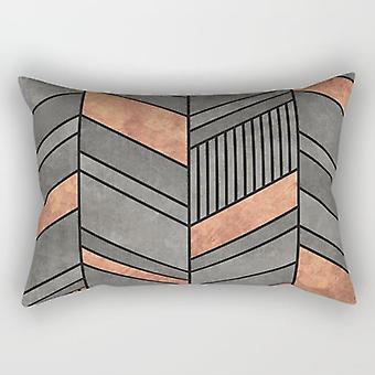 Abstract chevron rectangle pillow