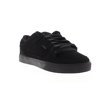 Osiris Protocol  Mens Black Suede Lace Up Athletic Skate Shoes